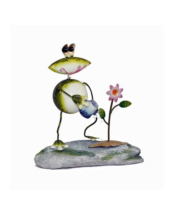 Green Frog Thumb - Green Metal