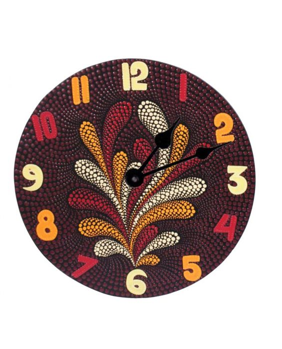 Aladdin Wooden 'Aboriginal' Wall Clock