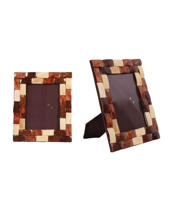 Aladdin Wooden Coconut Medium Picture Frame - Brown