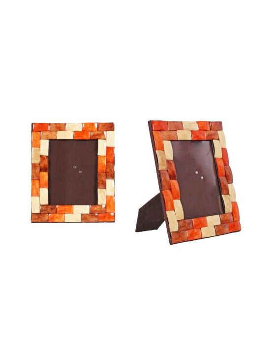 Aladdin Wooden Coconut Medium Picture Frame - Orange