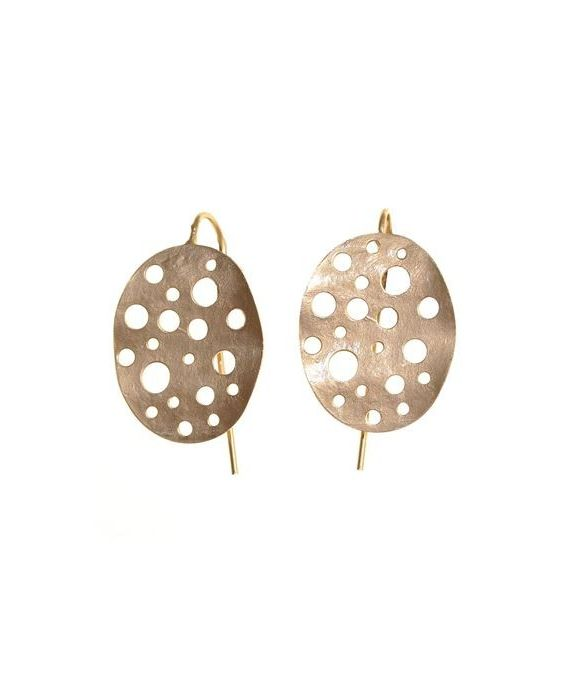 CATHERINE BIJOUX 'HOLE' EARRINGS - ROSE GOLD