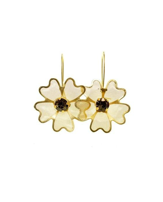 CATHERINE BIJOUX 'NET' EARRINGS - GOLD