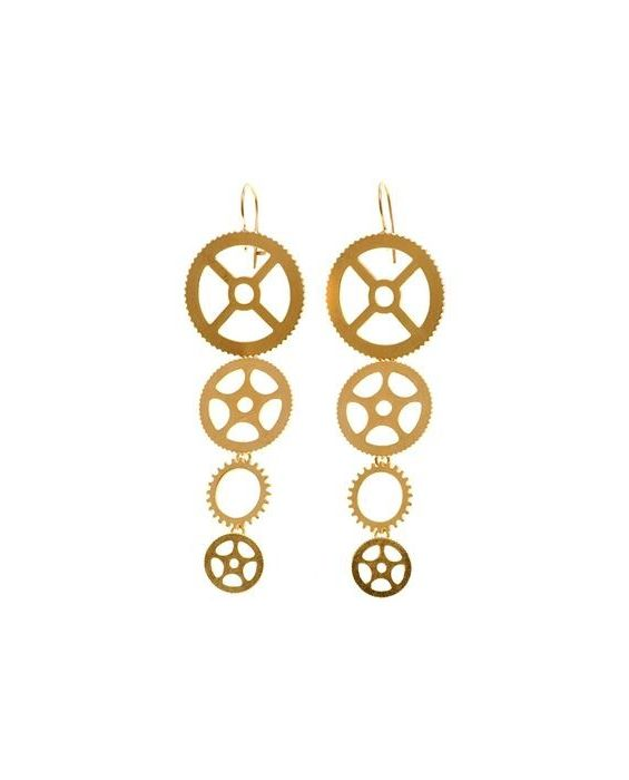 Catherine Bijoux '4 Gear' Earrings - Rose Gold