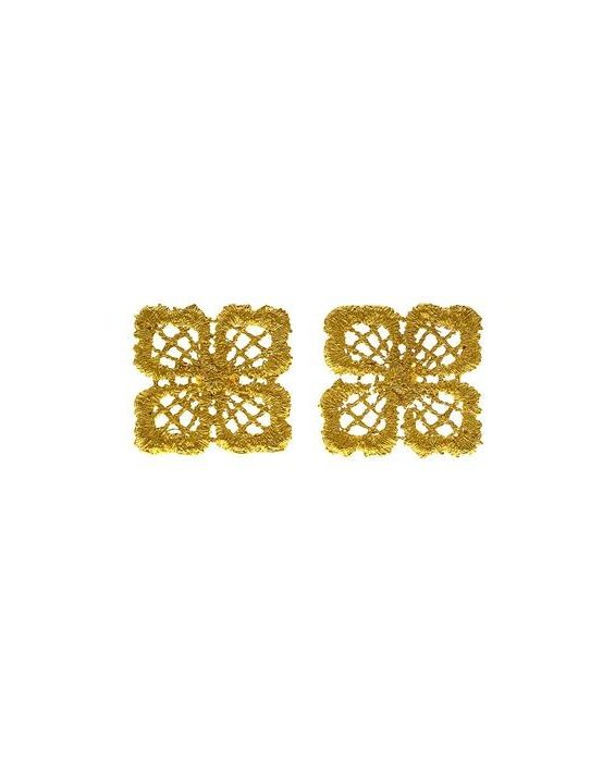 CATHERINE BIJOUX 'LACE' EARRINGS - GOLD