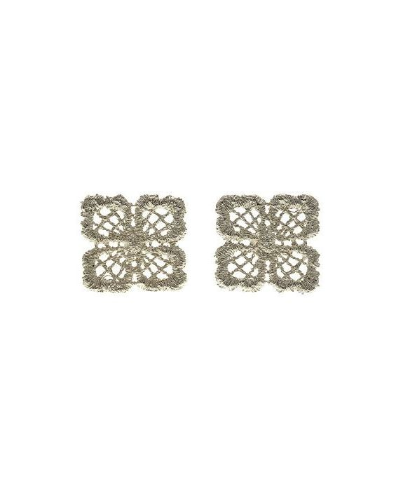CATHERINE BIJOUX 'LACE' EARRINGS - SILVER