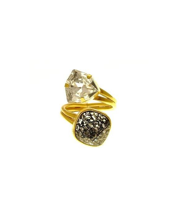 Catherine Bijoux Two Stones Ring