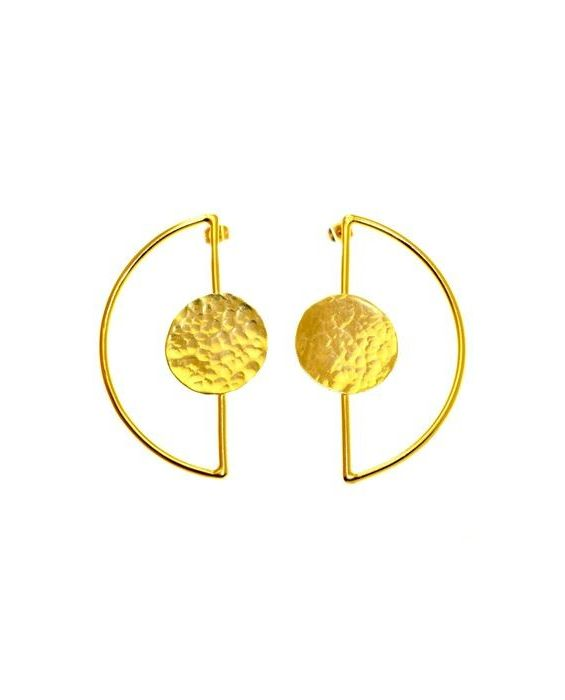 CATHERINE BIJOUX 'CIRCLE' EARRINGS - GOLD