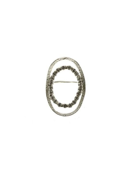CATHERINE BIJOUX 'OVAL' RINGS - SILVER