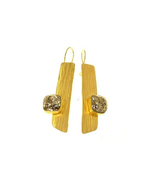 CATHERINE BIJOUX GEOMETRIC GOLD EARRINGS
