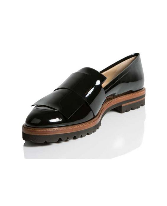 Rebecca Balducci - Black Patent Leather Loafer