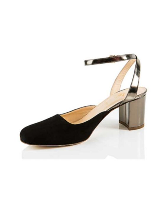 K.Spin - Suede and Specchio Leather Pump
