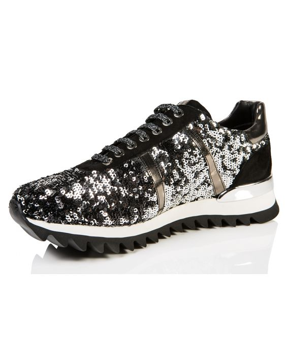 Bruglia 'Ginnica' Sequin Top Sneaker - Black