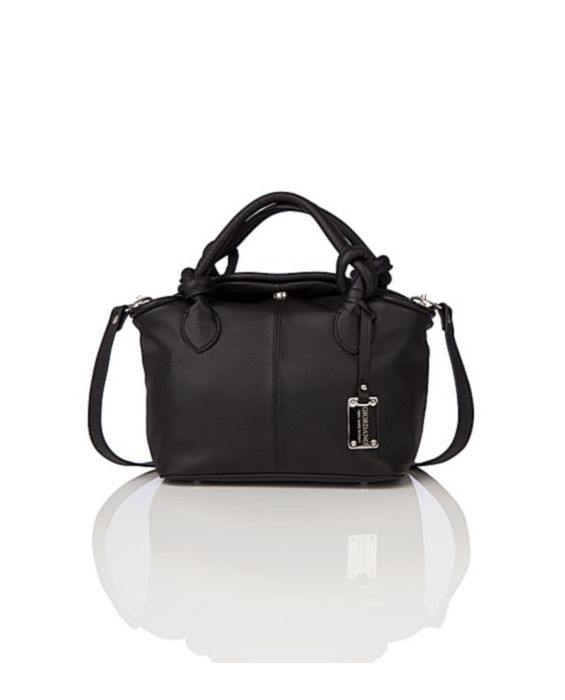 GIORDANO - MINI LEATHER TOTE - BLACK