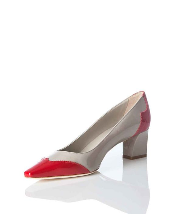 DE-SOLA - PATENT LEATHER POINTED PUMP