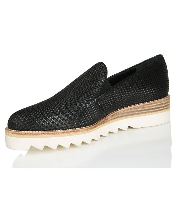 Franco Russo Leather Sneaker - Black