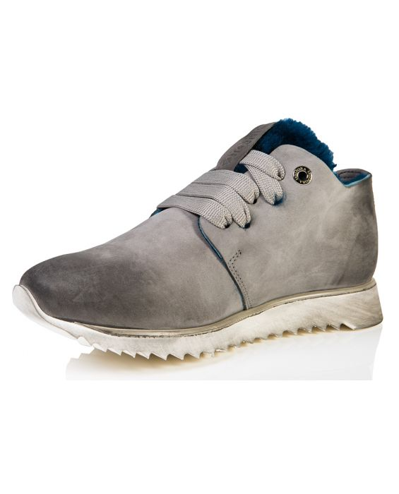 Andia Fortia 'Jupiter' Nubuck Leather Sneaker - Grey