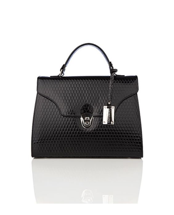 GIORDANO - TUDOR LEATHER MINI SATCHEL - BLACK