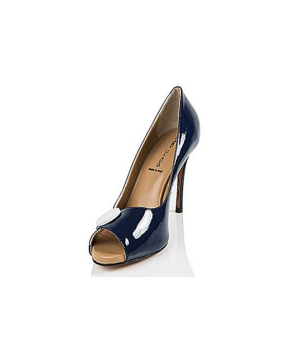Mary Claud 'Sally' Patent Leather Pump - Navy Blue