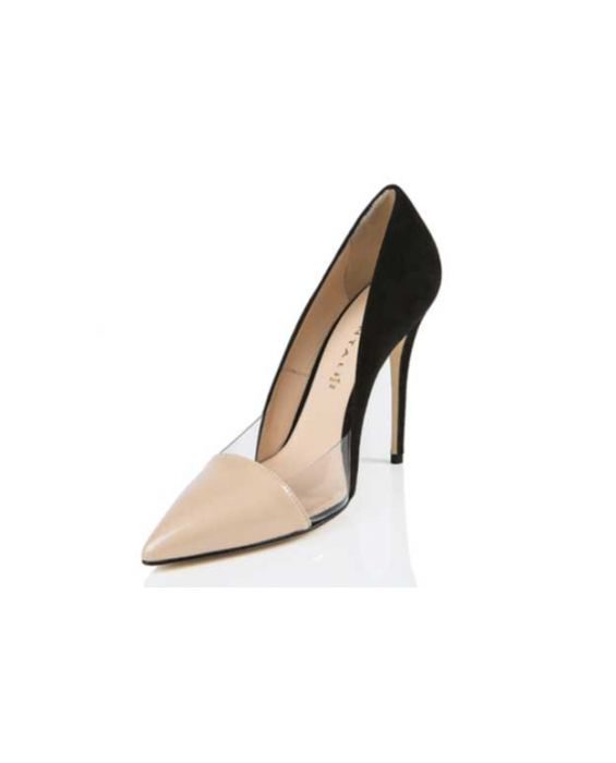 Chantal 1969 - Suede & Patent Leather Pump - Black & Nude