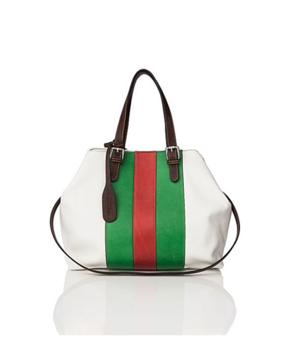Frattassimo - Leather Satchel - White