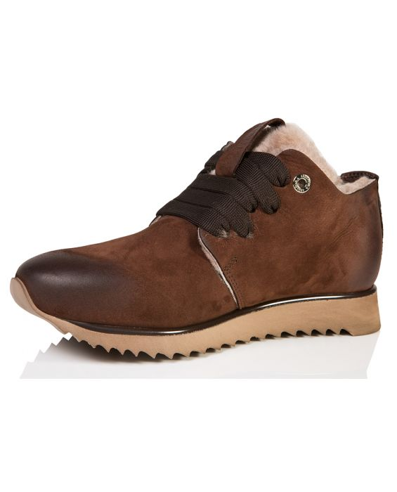 Andia Fora Nubuck Leather Sneaker - Brown