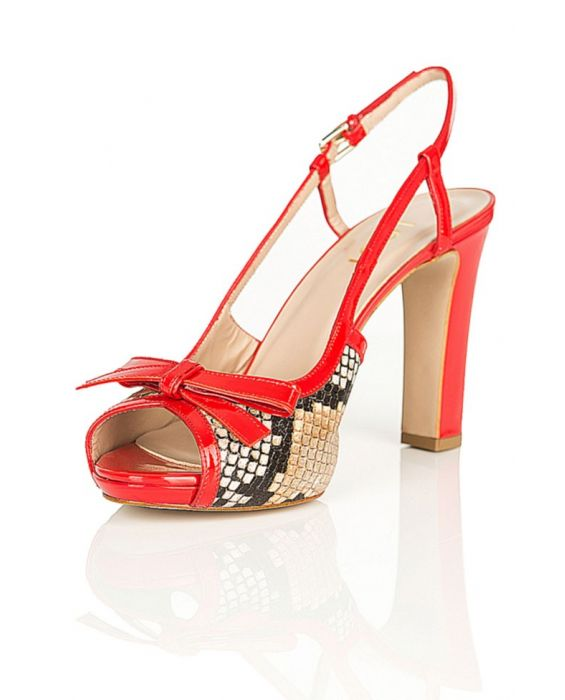 Lodi - Snake Skin / Red Patent Leather - Sandal