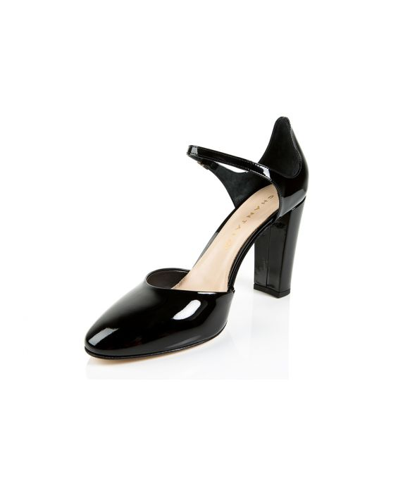 Chantal 1962 Patent Leather Pump - Black