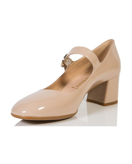 Angelo Giannini Mary Jane Leather Pump - Sand