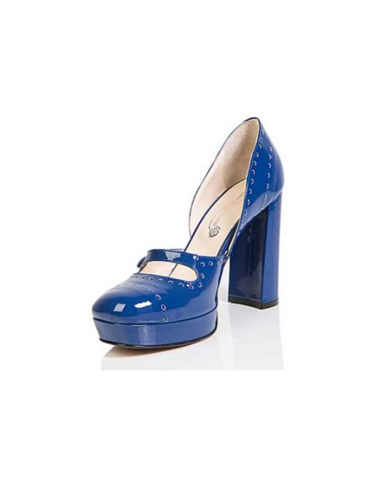 Danilo di Lea Patent Leather Mary Jane Pump - Navy Blue