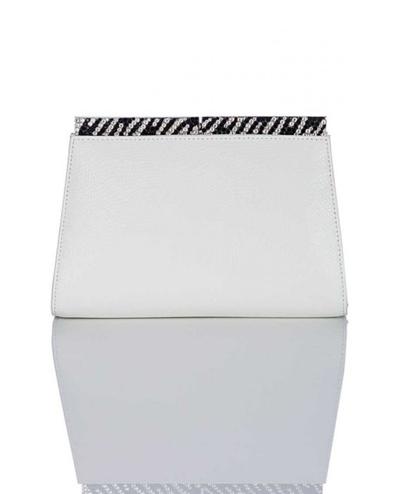 Chiarap 'Sparkle' Leather Clutch - White