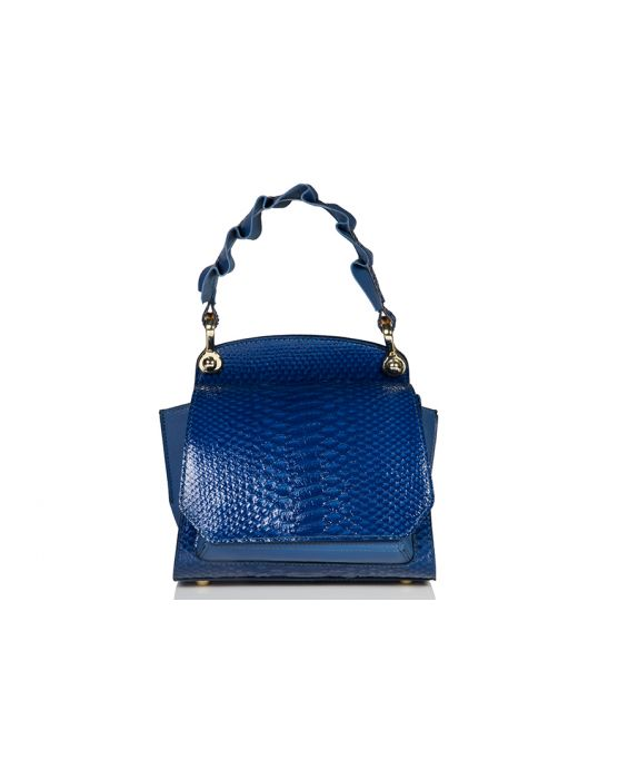 Wild Inga Mini Scarlett Leather Bag - Royal Blue/PetroBlue
