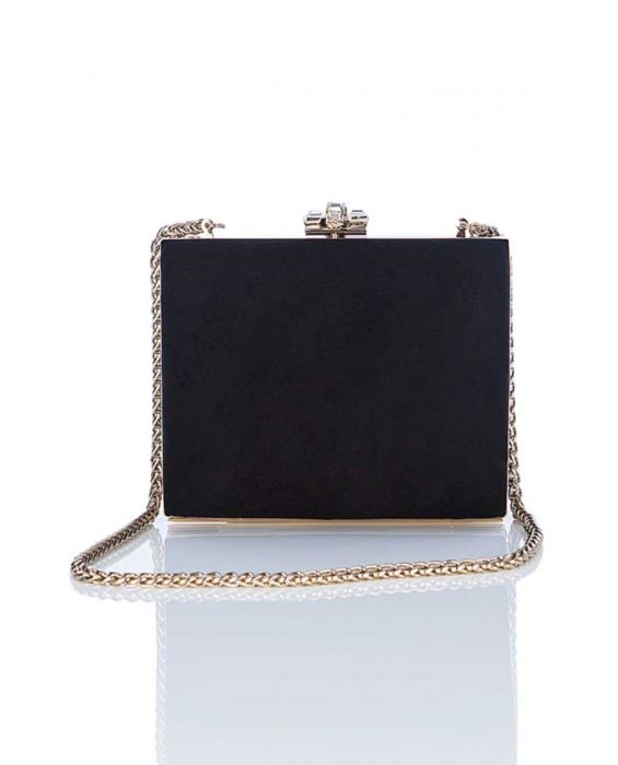 Chiarap Suede Clutch - Black