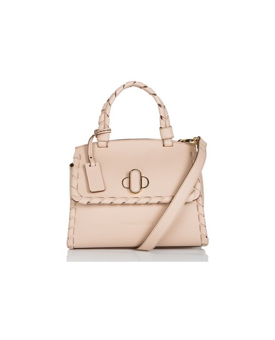 Plinio Visona 'California' Full Grain Calfskin Mini Tote - Nude