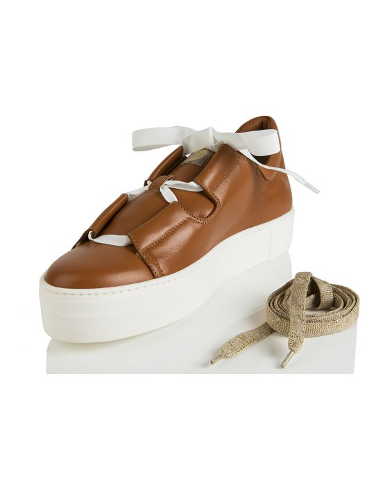 Shi's Leather Trainers - Brown