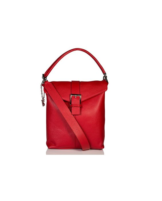 Venetian Style Cervo Leather Tote - Red