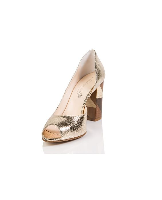 Danil di Lea Las Vegas Leather D'Orsay Pump - Gold