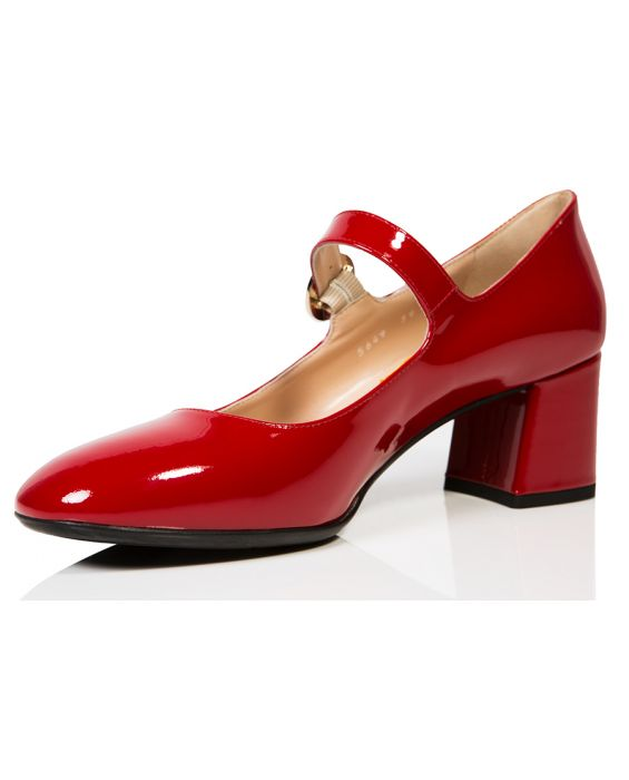 Angelo Giannini Mary Jane Leather Pump - Red