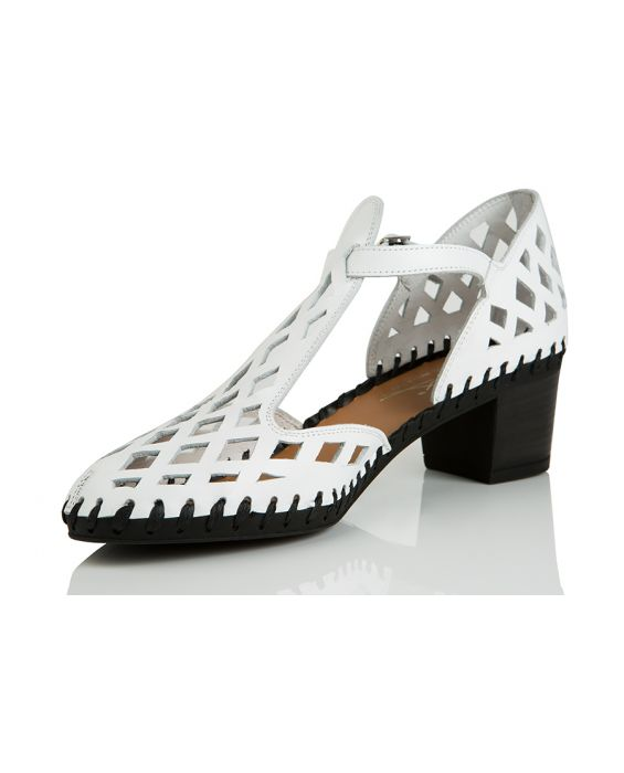 Alex Mercury 'Olivia' Leather Sandal - White