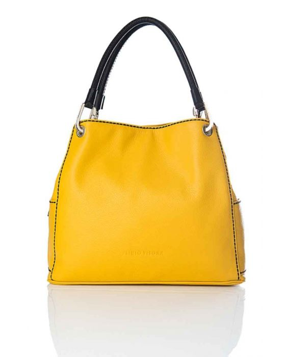 PLINIO VISONA 'NEW YORK' LARGE HOBO - YELLOW