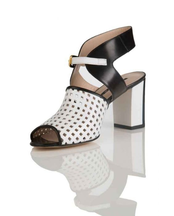 Kate Perforated Leather Sandal