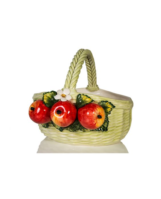 Ceramiche D'Arte Round Ondulated Basket