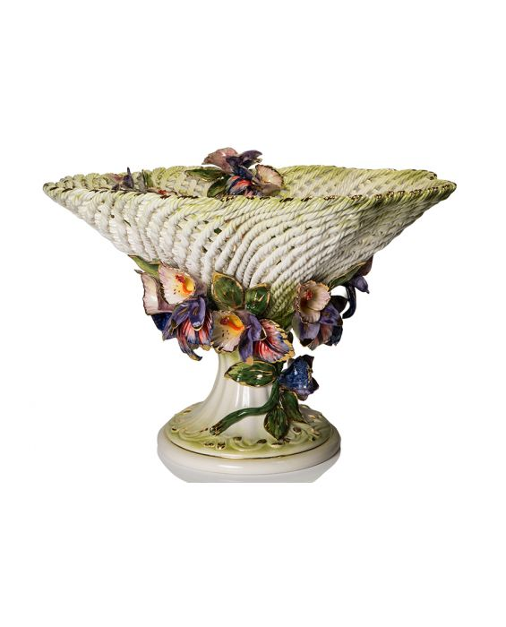 Ceramiche D'Arte 'Spaghetto' Ceramic Fruit Basket
