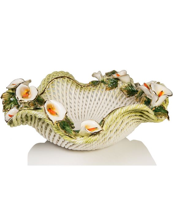 Ceramiche D'Arte Ondulated Fruit Basket