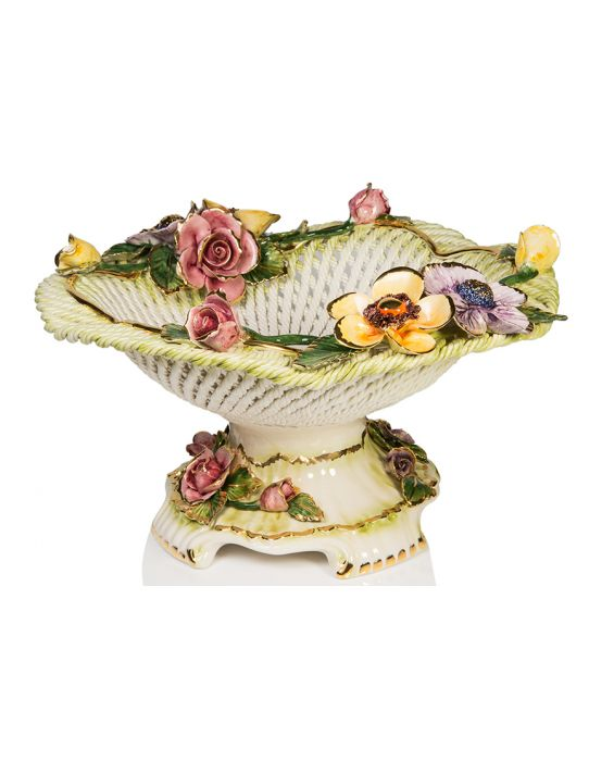 Ceramiche D'Arte 'Margherita' Ceramic Fruit Basket