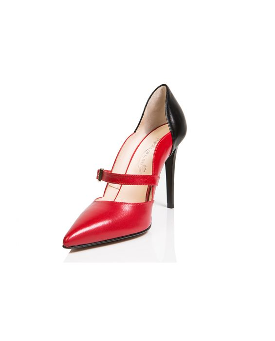 Danilo di Lea 'Cinderella' Leather Pump - Red/Black