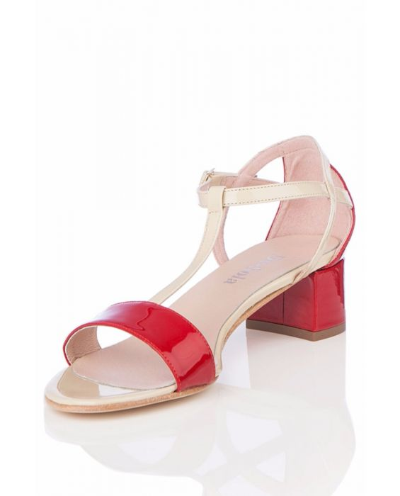 De-Sola - Red Patent Leather Sandal