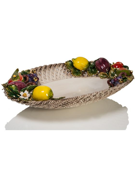 Ceramiche D'Arte 'Spaghetto' Oval Fruit Basket