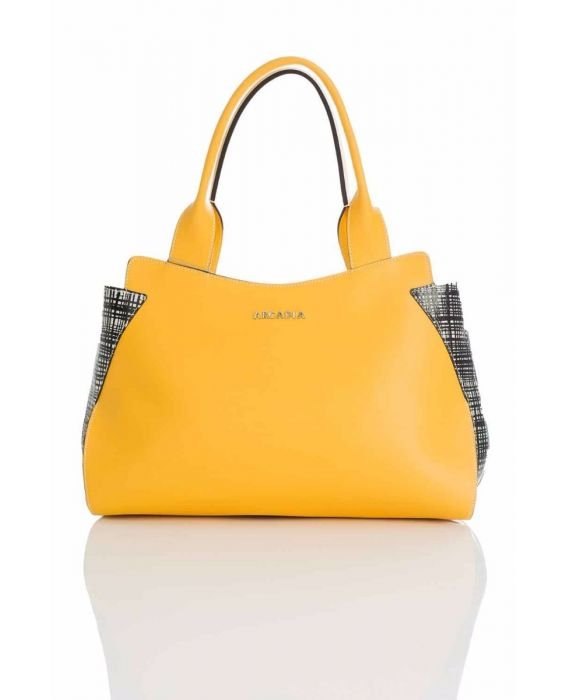 ARCADIA '2767' SATCHEL - YELLOW