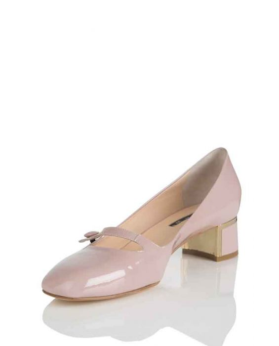 KATE 'PIUMA' MARY JANE PUMPS - ANTIQUE PINK