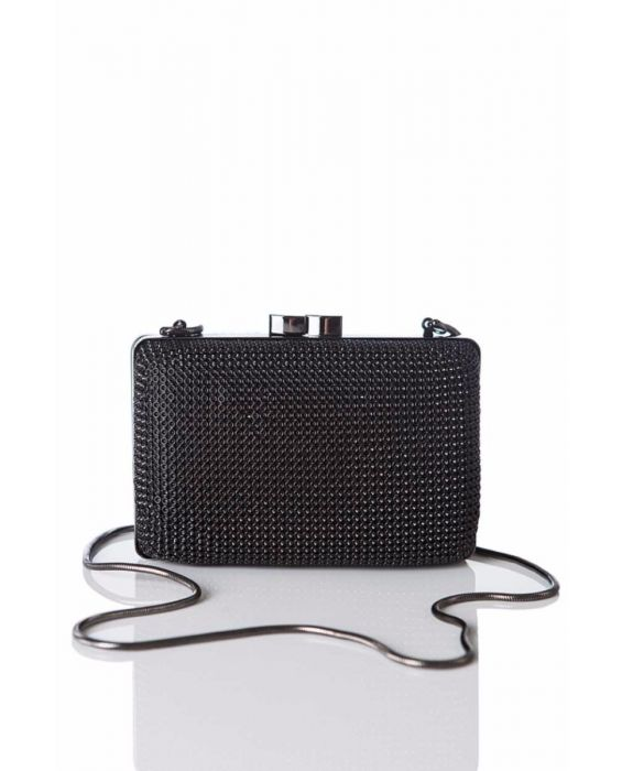Whiting & Davis 'Dimple Minaudiere' - Black